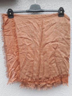 Sjaal met franjes cognac Modal