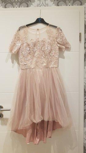 Chi Chi London Suknia wieczorowa w kolorze różowego złota-różany Poliamid