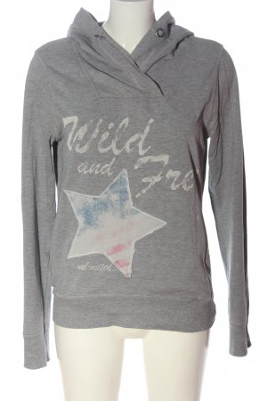 AC Sweatshirt met capuchon lichtgrijs gestippeld casual uitstraling