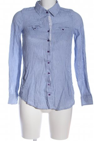 AC Long Sleeve Shirt blue-white check pattern casual look