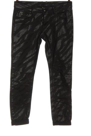 AC Tube jeans zwart-lichtgrijs volledige print casual uitstraling