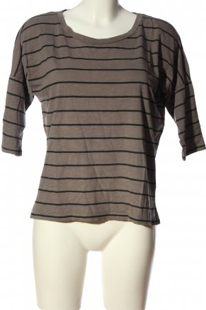 AC Stripe Shirt brown-black flecked casual look