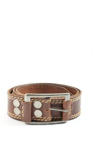 aca joe Leather Belt brown casual look