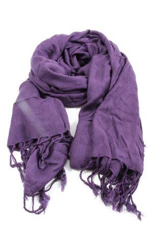 ACC Sjaal met franjes lila casual uitstraling