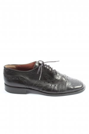 Accatino Wingtip Shoes black casual look