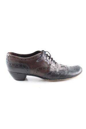 Accatino Zapatos brogue negro-marrón estilo «business»