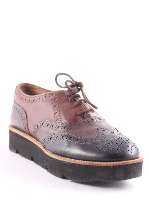 Accatino Zapatos brogue marrón-marrón oscuro look casual