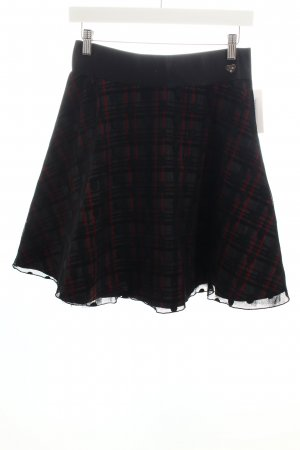 Access Flared Skirt check pattern street-fashion look