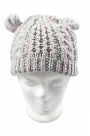 Accessoires Beanie light grey cable stitch casual look