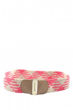 accessoires by takko fashion Braided Belt natural white-pink weave pattern