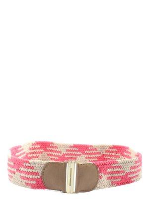accessoires by takko fashion Pleciony pasek w kolorze białej wełny-różowy