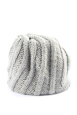 accessoires by takko fashion Bonnet en crochet gris clair torsades
