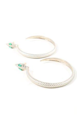 Accessoires Pendientes tipo aro color plata elegante