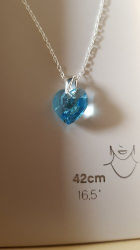 Accessoires Collar color plata-azul celeste