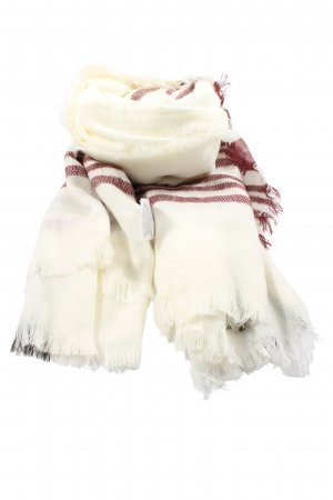 Accessoires Fringed Scarf white-red striped pattern casual look
