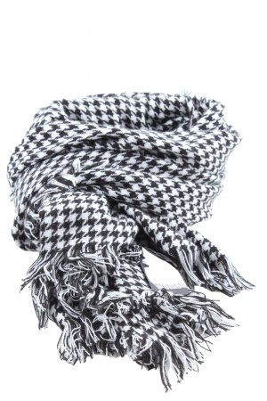 Accessoires Fringed Scarf black-white allover print casual look