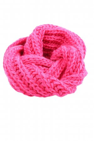 Accessoires Tube Scarf pink cable stitch casual look