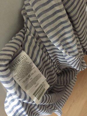 Accessorize Écharpe d'été bleu azur-blanc