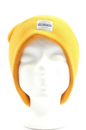Accessoires Cappello a maglia giallo pallido modello misto stile casual