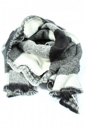 Accessoires Sciarpa lavorata a maglia bianco-nero stampa integrale stile casual