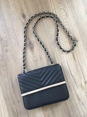 Accessoires Umhängetasche Tasche schwarz silber