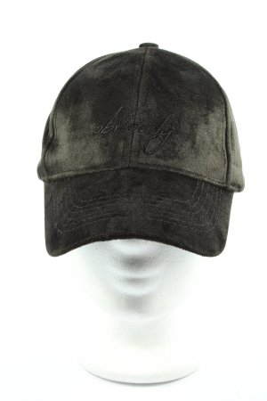 accessories Baseball Cap black embroidered lettering casual look