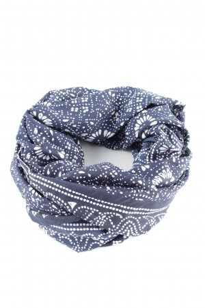Tube Scarf blue-white allover print casual look