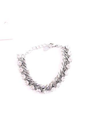 Accessorize Bracelet argenté Éléments métalliques