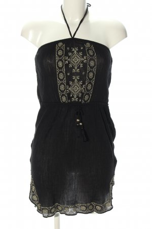 Accessorize Bandeau Dress black graphic pattern casual look