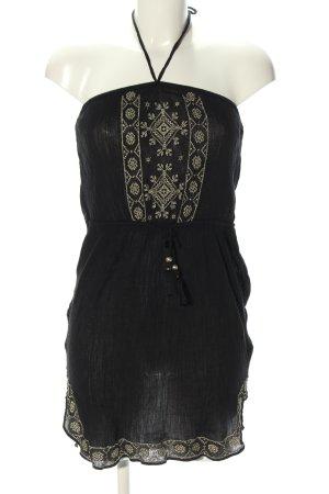 Accessorize Vestido bandeau negro estampado gráfico look casual