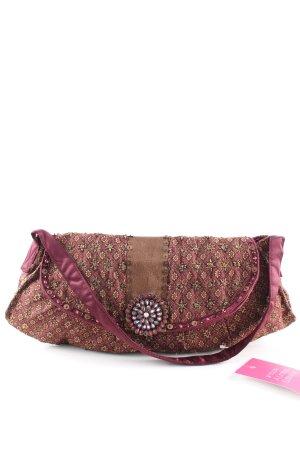 Accessorize Pochette rose-brun motif abstrait style décontracté