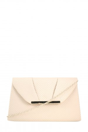 Accessorize Clutch creme-weiß Punktemuster Casual-Look