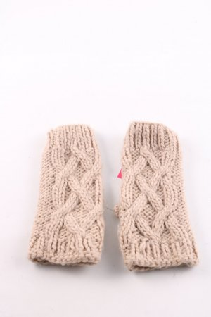 Accessorize Fingerless Gloves cream cable stitch casual look