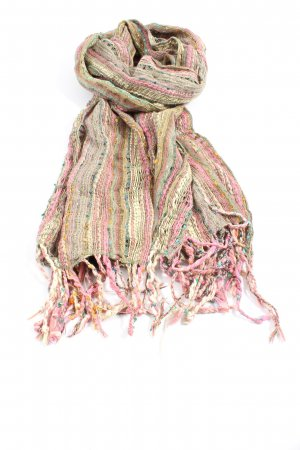 Accessorize Fringed Scarf striped pattern casual look
