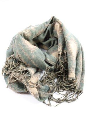 Accessorize Bufanda de flecos caqui-blanco puro