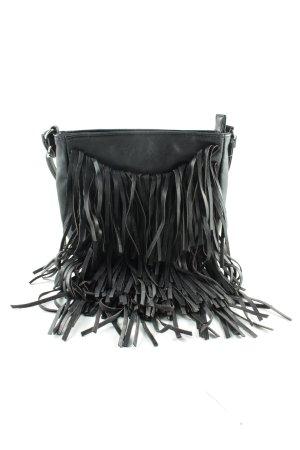 Accessorize Tas met franjes zwart casual uitstraling