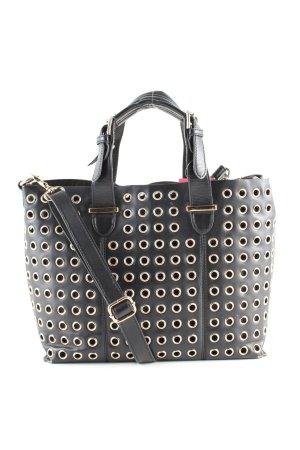 Accessorize Bolso negro-color plata look casual