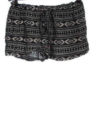 Accessorize Hot pants zwart-wit volledige print casual uitstraling