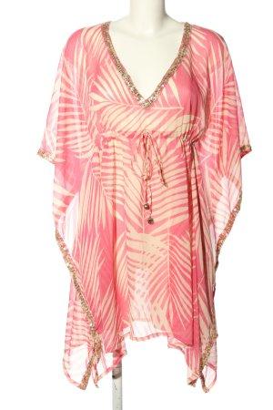 Accessorize Blusa tipo kimono rosa-blanco look casual