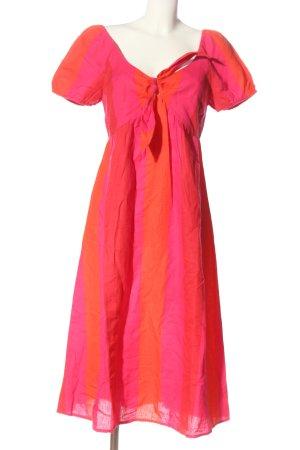 Accessorize Robe mi-longue rose-rouge motif rayé style décontracté