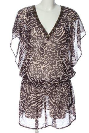Accessorize Robe courte violet-blanc imprimé allover style décontracté