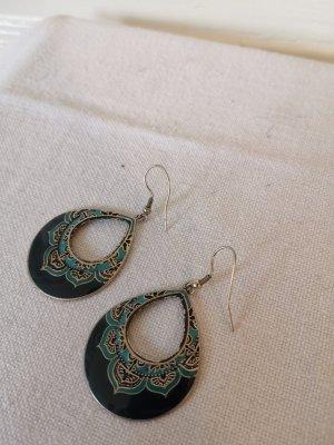 Accessorize Ohrringe Ohrhänger blau/silber Tropfenform