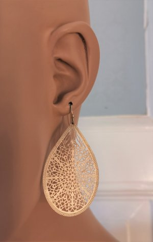 Accessorize Ohrringe Ohrhänger gold Tropfenform Mandala-Style