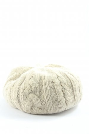 Accessorize Bobble Hat natural white cable stitch casual look