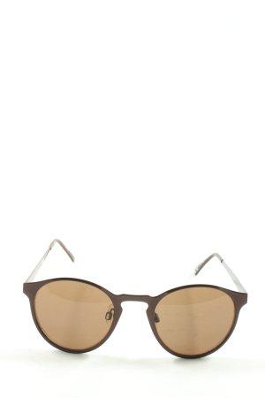 Accessorize Gafas de sol redondas marrón look casual