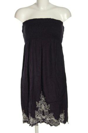 Accessorize schulterfreies Kleid schwarz-weiß Blumenmuster Casual-Look
