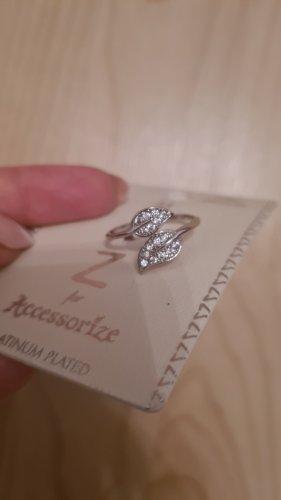 Accessorize Silber Ring neu Platinum Plated