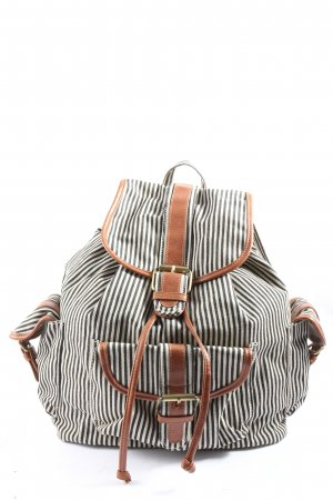 Accessorize Trekking Backpack black-white striped pattern casual look
