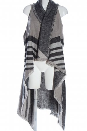 Accessory St Long Knitted Vest light grey-black flecked casual look