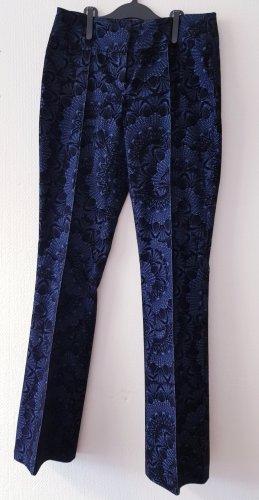 Acciaio Pantalón de pana negro-azul oscuro